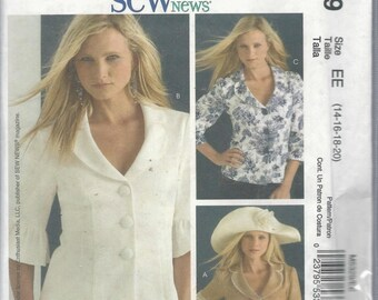 McCalls 5329 Sew News Misses Lined Jacket Size 14-20