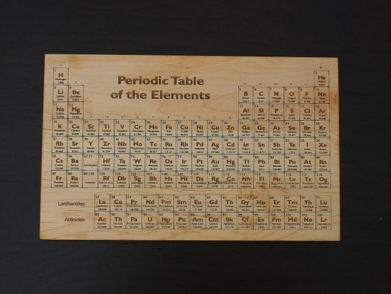 Periodic table engraved cutting board or serving board great - Periodic table chopping board ...