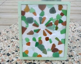 Sea Glass Frame, Sea Glass Decor, Sea Glass Art, Framed Art, Wall Art, Beach Glass Art, Beach Home Decor,