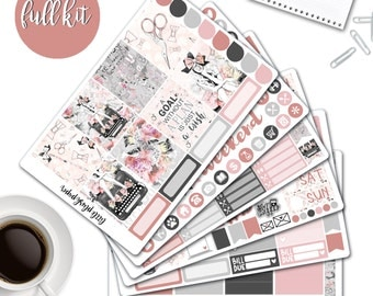 MATTE | Erin Condren Planner Stickers | Weekly Kit | Time To Plan | Vertical ECLP | Full Kit