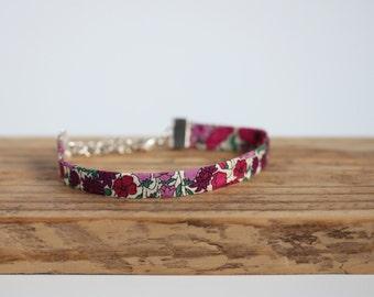 Tillie - Floral Pink Liberty fabric Bracelet