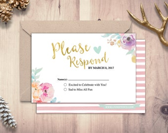 happily ever after rsvp card boho wedding shower couples shower arrows tribal