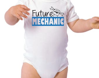 Baby Future Mechanic Onesie - Gifts for Baby