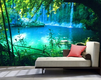 Waterfall Wall Decal Etsy