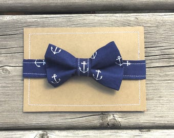Nautical Bowtie, Anchor Bowtie, Baby Boy Bowties, Toddler Bowties