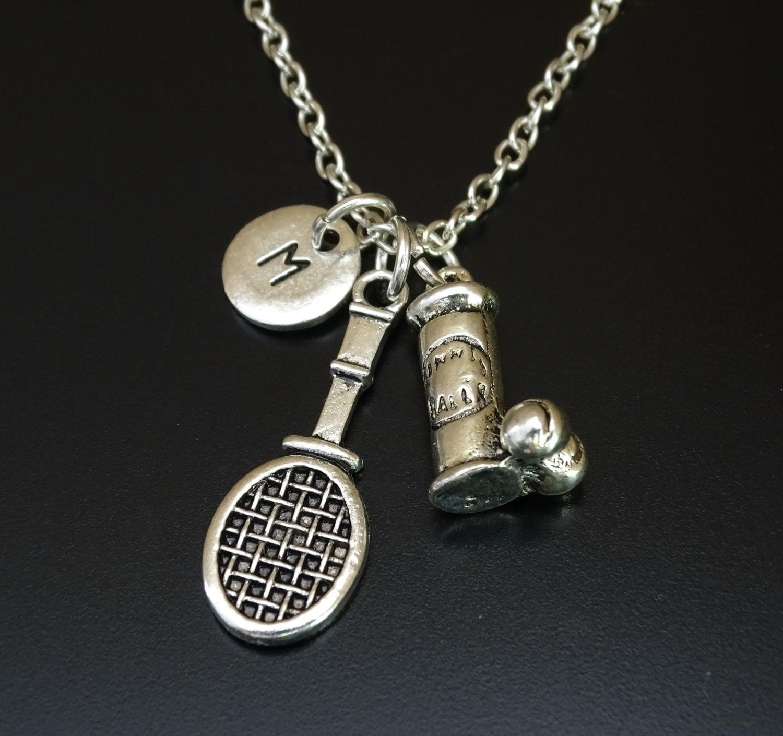 Tennis Charm Bracelet: Tennis Necklace Tennis Charm Tennis Pendant Tennis Jewelry