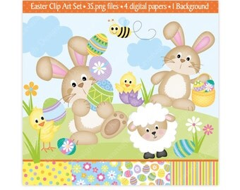 Easter Clip Art,Easter Clipart,Easter Bunny Clipart,Easter Chicks Clipart,Clipart,Easter Digital Papers,Easter Eggs Clipart,Scrapbooking,
