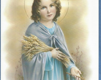 "Holy Child Jesus Holy Communion Catholic Religious picture Print  - 8"" x 10"" art ready to frame"