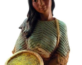 Captive 1980 Homco Native American Women With Infant (PALZAR)