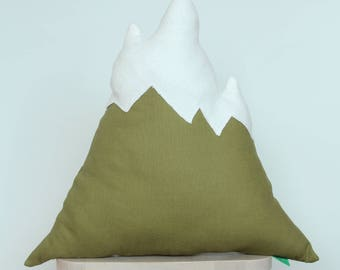 Mountain pillow olive green
