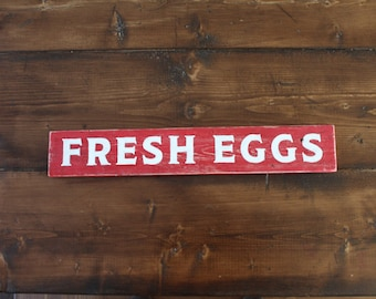 Rustic hand painted Fresh Eggs sign