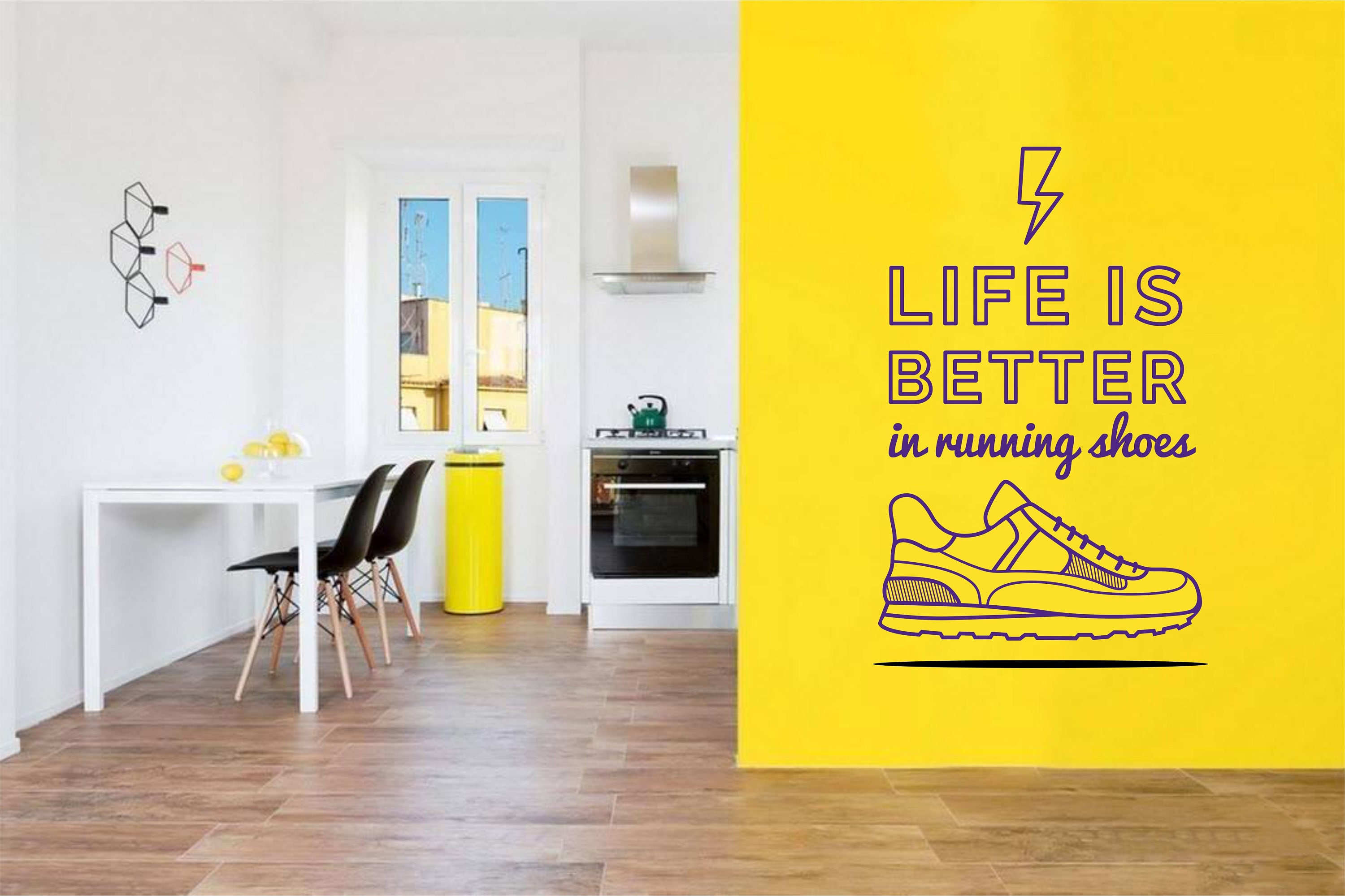 Running Quote Wall Decal for Runners - Wall Decal Decor Art for Gym ...