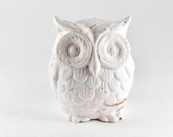Tiny Owl Figurine - Room Decor - Collectible - Decorative Owl - Handmade - Nocturnal - Hedwig - Wisdom - Intelligence - Good Luck - Wealth