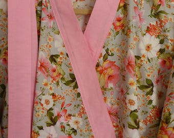 Cotton Dressing Gown Etsy
