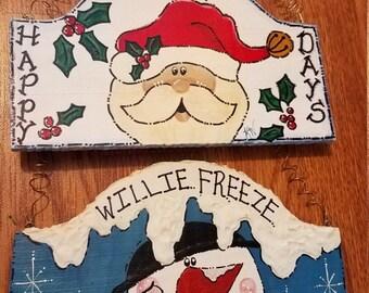 Santa or Snowman Hanging Decor