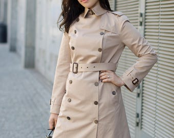 Camel trench coat / Raincoat