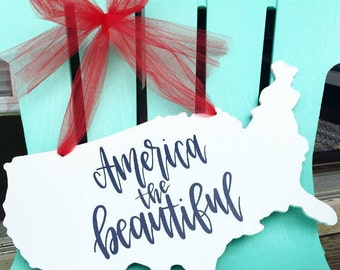 America the Beautiful USA Hand Lettered Design
