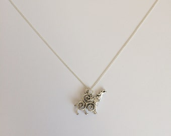 Teen Wolf Inspired Charm Necklace - Triskelion / Scott McCall - Handmade Silver Necklace