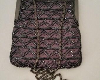 Beautiful Vintage Beaded Evening Bag