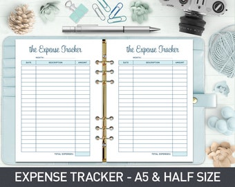 Expense Tracker A5, Budget Planner, Expenses Planner Inserts, Budget Planner Inserts, Monthly Finance Planner, Budget Checklist