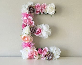 Floral Letter, Flower Letter, Baby Shower Decor, Birthday Party Decor, First Birthday, Shower Gift, Girl Birthday, Floral Monogram