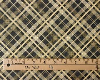 Denyse Schmidt Chicopee for Free Spirit Simple Plaid - Charcoal Black - Sold by the yard