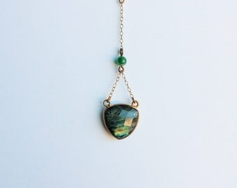 Labradorite and Adventurine Necklace