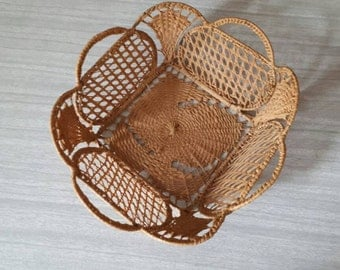 Small Vintage Woven Basket