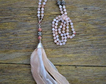 Mala 108 Beads In Soft Colours.