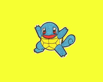 Squirtle Pokemon Iron-On Patch, Squirtle patch, Pokemon Patch, No-Sew Patch, embroidered patch, Squirtle Costume