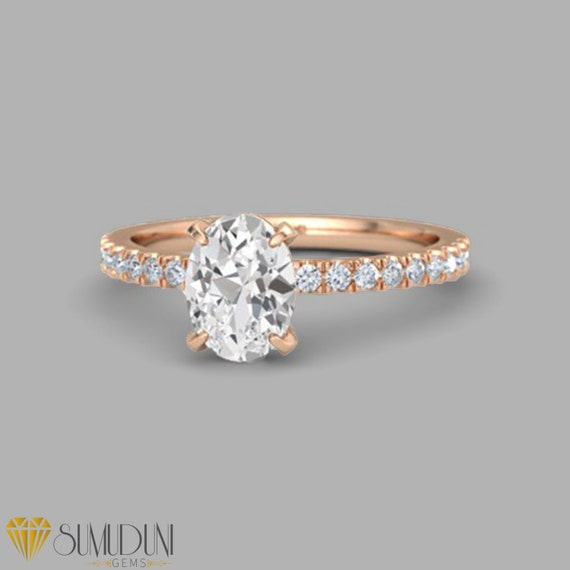 Sumuduni Gems Engagement rings 1000 dollars and under White Sapphire Engagem