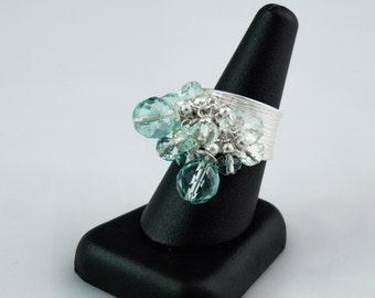 Aquamarine Quartz Ring