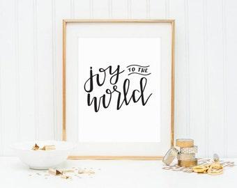 Joy To The World Printable | Holiday Decor | Wall Decor