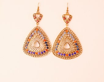Vintage Triangle Earrings