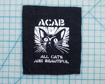 ACAB All Cats Are Beautiful Fabric Patch
