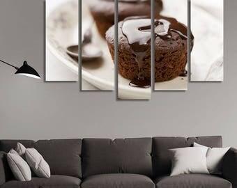 Dessert Plates, Dessert Bar, Dessert Table Backdrop, Restaurant Décor, Muffins, Kitchen Décor Wall, Kitchen Décor Wall Art, Café Wall Art