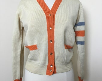 Vintage Mid Century Cardigan Sweater