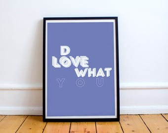 Typo poster - Do What You Love