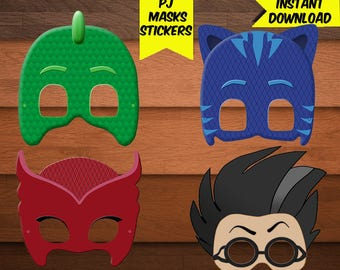 PJ Masks Digital Mask-Pj Mask Mask-Digital Pj Mask Birthday-Pj Mask Party Decoration-Printables Pj Mask Digital Mask-DIGITAL Download