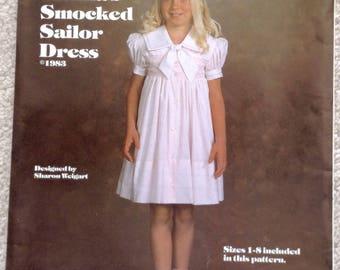 Pattern Girls Martha Pullen heirloom sailor dress size 1-8 uncut sewing pattern