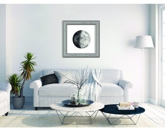 Watercolour Moon Print