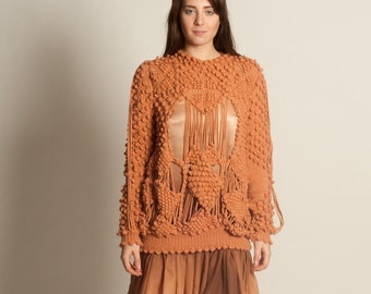 Wool and cashmere sweater with silk dress