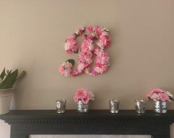 Cottage Garden Custom Floral Letter