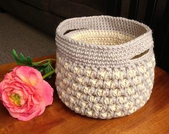 Crocheted Basket // Morrocan Basket // Home Decor // Nursery Decor // Bathroom Decor
