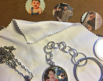 Custom Photo Keepsake Pendants