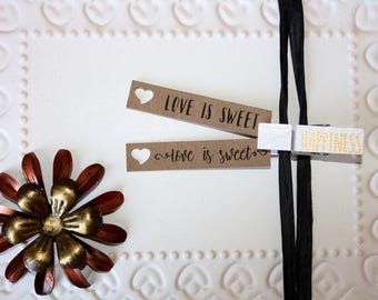 Kraft Love is Sweet tag - Engagement Bridal Shower or Wedding Favor tag