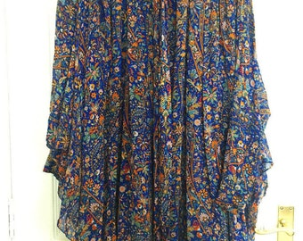Vintage Marc Jacobs Paisley Kaftan Dress with Neck Tie