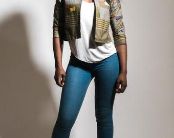 Deutch Wax fabric Light three quarters sleeves Jacket.