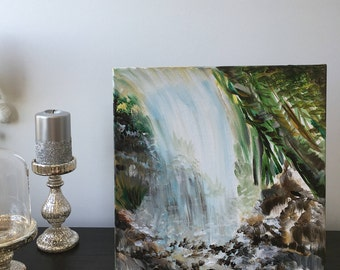 15 x 15 inches Bamboo Waterfall