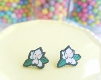 Handmade Magnolia Earrings